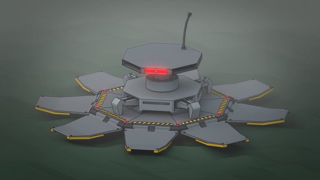 Robot Ship Blender 3D