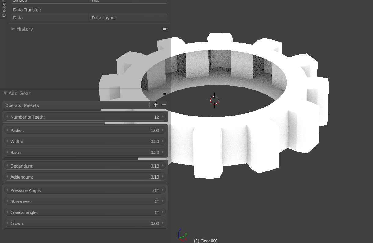 Gear In Blender 3D